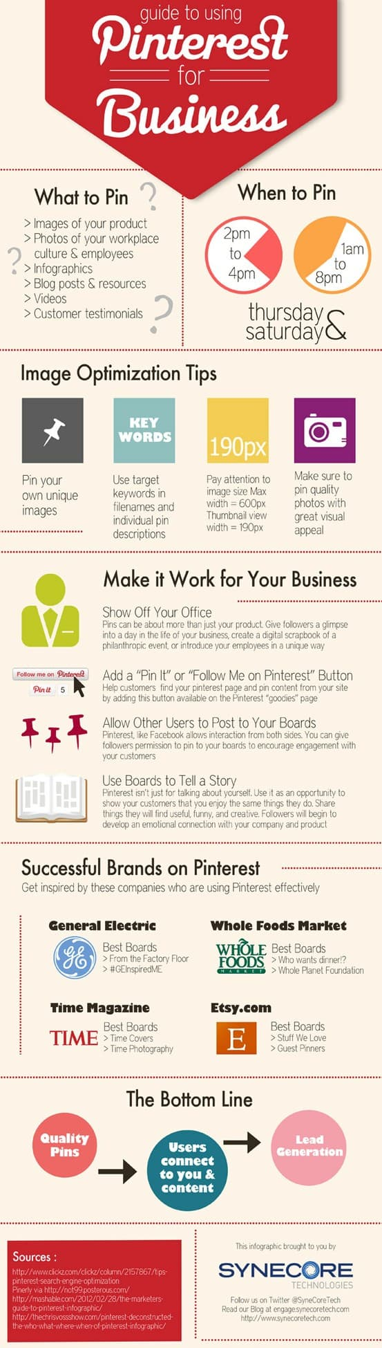 Pinterest INfographic by Synecore