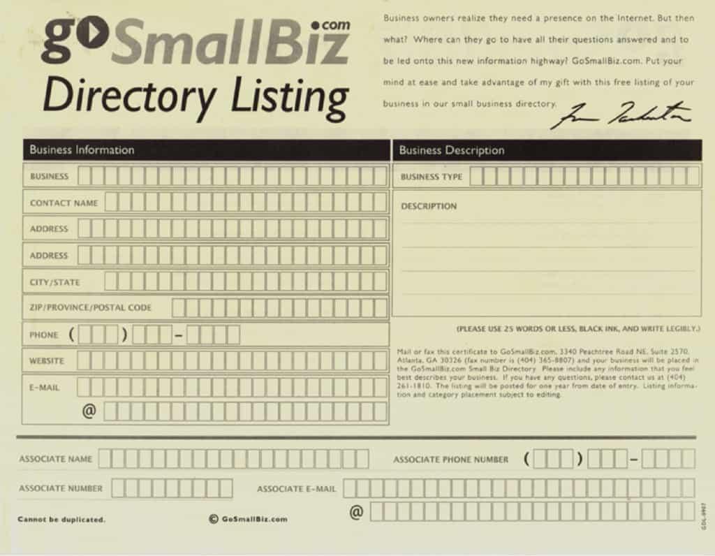 Go Small Biz Directory Listing