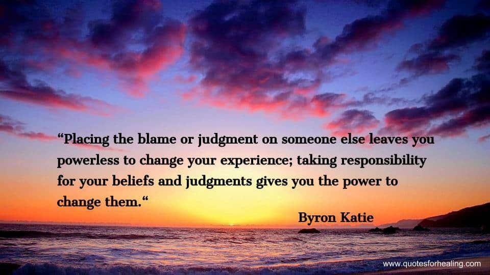 Placing the blame where it belongs