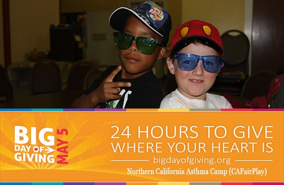 Big Day of Giving - CaFairPlay Asthma Camp