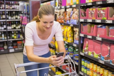 Consumer using Smart Phone for better deals