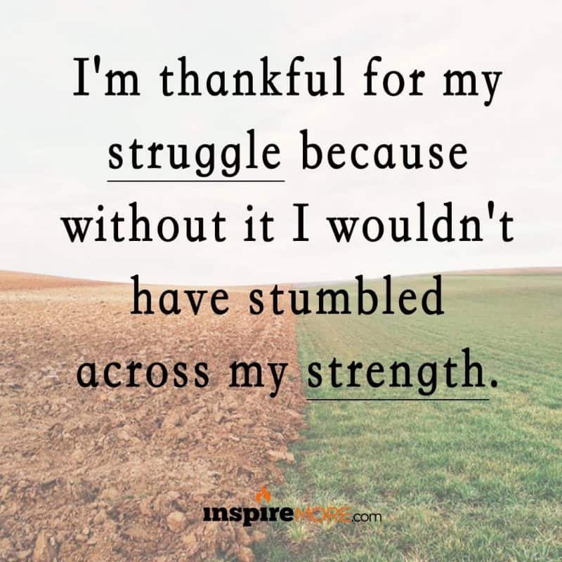 Stumbling on your strength