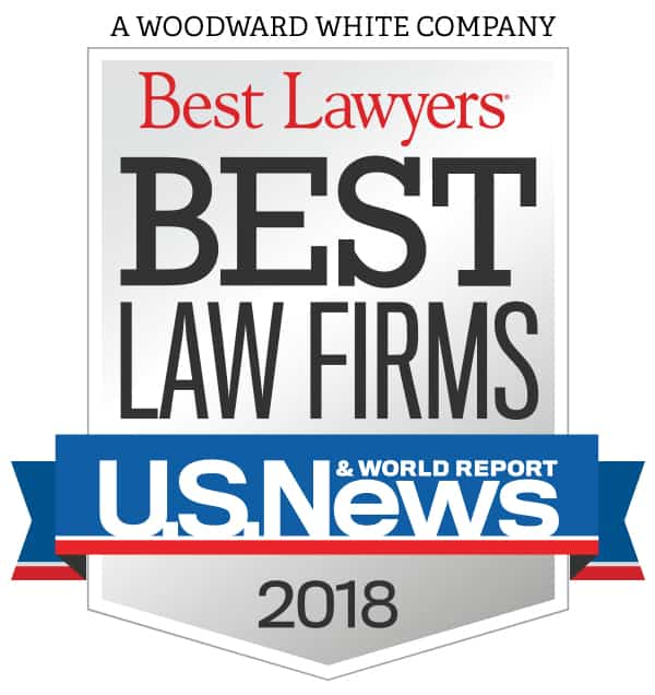 U.S. News and World Reports Best Law Firms 2018