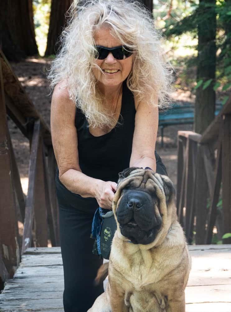 Judy Musgrove and Riley